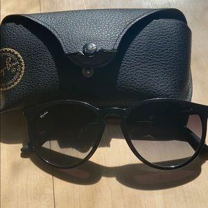 Women's black Rayban Sunglasses